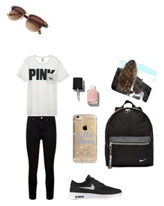 """""""Untitled #15"""" by stepha9763 on Polyvore featuring Paige Denim, Victoria's Secret, NIKE, Agent 18 and Chanel"""
