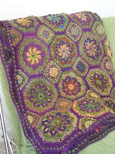 Ravelry: Project Gallery for Spanish Tiles pattern by Tammy Hildebrand. Oh the colors, the colors. Marble Chunky is amazing!