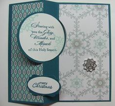 Circle Card Thinlits die, Festive Flurry stamp set