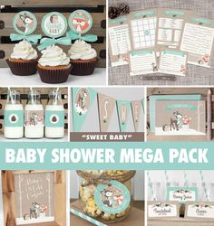 Save over 50% with the Baby Shower Mega Pack! Everything you need to throw a precious baby shower that will be sure to impress your guests! A gender neutral winter woodland theme for a sweet baby boy or girl - games, decor, thank you cards, and more! All items are available for INSTANT DOWNLOAD immediately following purchase. Get started on your DIY baby shower today!