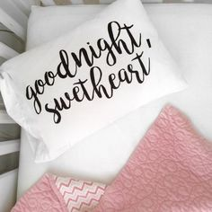 Oh, Susannah Goodnight Sweetheart Toddler Size Pillowcase Pillow Cover 14 x Inches) for Her Room Decor Toddler Boy Room Decor, Toddler Rooms, Childrens Room Decor, Boys Room Decor, Kids Room, Modern Pillow Cases, Modern Pillows, Cot Bed Sheets, Good Night Beautiful