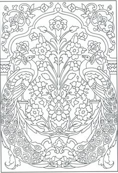 Peacock coloring page, for adults 1/31