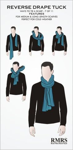 How To Tie A Manly Scarf Knot? These 3 ways to wear a scarf will ensure that you… How To Tie A Manly Scarf Knot? These 3 ways to wear a scarf will ensure that you are warm, the scarf won't come undone and you will look stylish. Ways To Wear A Scarf, How To Wear Scarves, Scarves For Men, Wearing Scarves, Fashion Mode, Mens Fashion, Fashion Tips, Daily Fashion, Fashion Styles