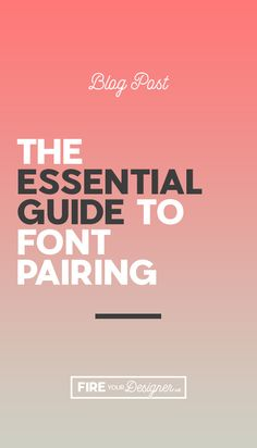 Choosing the right fonts is hard! Its even more difficult pairing two together. Learn how to pair fonts like the pros in this essential guide to font pairing!  Read the full post!