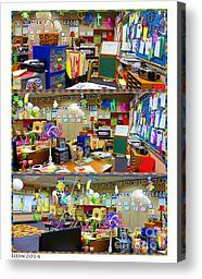 Kindergarten Classroom Canvas Print by Tina M Wenger