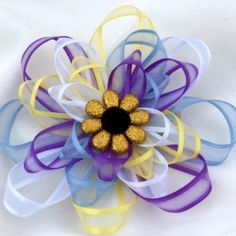 Ribbon hair bow tutorial.