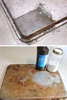 Cookie Sheet quick cleaner: Baking soda and peroxide? (55 Must-Read Cleaning Tips & Tricks)