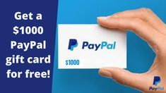 Get a $1000 PayPal gift card for free! This is a free giveaway. From this giveaway you can win a free $1000 PayPal giftcard.  go to the link to know how to participate for the giveaway. This PayPal giftcard giveaway is for usa people. you can enter in for the giveaway now Christmas Gift Tags Printable, Free Printable Gift Tags, Free Gift Cards, Printable Cards, Free Gifts, Paypal Gift Card, Gift Card Giveaway, Paypal Hacks, Earn Money Online Fast