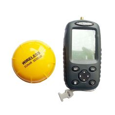 Portable Wireless Fish Finder Echo-Sounder Fishing Depth Sounder 125kHz Sonar Sounder Range 0.6-40M Alarm Transducer Fishfinder