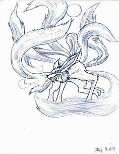 Nine Tail demon fox by novedlove