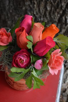 Coral and pinks flowers - so pretty!!
