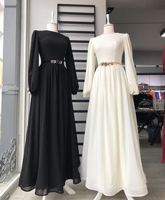 Stylish Dress Designs, Stylish Dresses, Hijab Fashion, Fashion Dresses, Hijab Dress Party, Muslim Women Fashion, Muslim Dress, Prom Dresses With Sleeves, Looks Chic