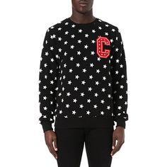 CRIMINAL DAMAGE All over stars sweatshirt (Black