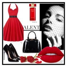 """""""Red"""" by soofficial87 ❤ liked on Polyvore featuring Relaxfeel, WithChic, Estée Lauder and Lime Crime"""