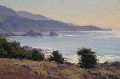 Carmel Highlands by Jesse Powell Oil ~ 8 x 12