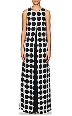 Save money on Lisa Perry Dotted Crepe Gown zen New Fashion Clothes, Work Fashion, Fashion Outfits, African Fashion Dresses, African Dress, Elle Fashion, Fashion Trends, Online Girl Games, Ankara Short Gown