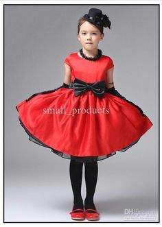 red and black flower girl dresses - Google Search - MY WEDDING ...