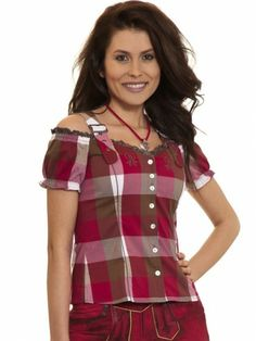 Schulterfreie Trachtenbluse Siri (rot, grau, braun) - Spieth & Wensky Spieth Und Wensky, Hot Pants, Shorts, Peplum, Dirndl, Get Tan, Red, Trousers, Leather