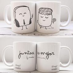 by Mr Wonderful Diy Becher, Ideas Aniversario, Diy Mugs, Sharpie Mugs, Mr Wonderful, Cute Mugs, Mug Designs, Mug Cup, Diy Gifts