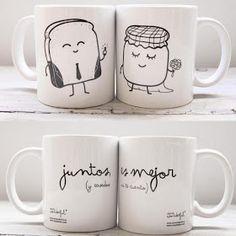 aw que tierno, mi taza estaria llena de caffee, supongo que la de Fidel con té o chocolate en agua :3