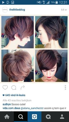 Cute short hair pixie cut