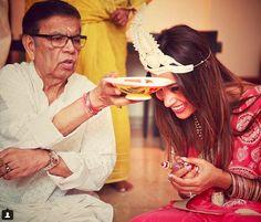 Bengali beauty Bipasha Basu takes part in pre-wedding pooja