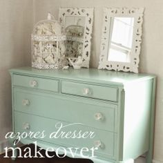 .Dresser Makeover - Love this color and those knobs <3