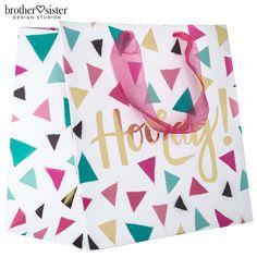 Hooray Triangle Confetti Gift Bag