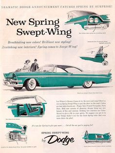 Catch Spring by surprise, 1958 Dodge advertisement