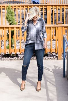 402f25ccfc0 Mixing Patterns  Gingham + Leopard Mixing Patterns