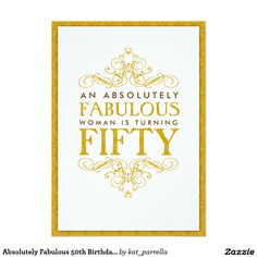 absolutely fabulous 50th birthday party invitation