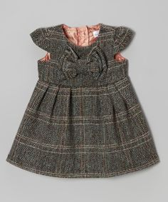 Mint Tweed Bow Wool-Blend Dress - Classic style