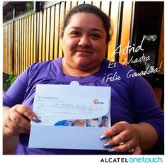 Astrid es nuestra feliz ganadora de un día en el SPA gracias a ALCATEL ONE TOUCH CHILE  https://www.facebook.com/AlcatelOneTouchChile.
