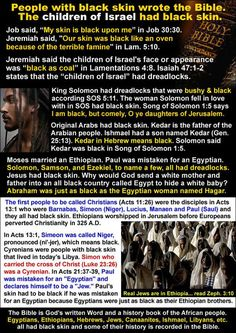 """Moses was black also... in Exodus 4:6-7 """"And the LORD said furthermore unto him…"""