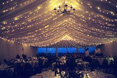 Wedding Lighting | Venue Lighting | Ceiling Drapes | Fairy Light Canopy | Fairy Lights
