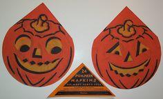 Vintage Halloween Ephemera ~ Jack-O-Lantern Napkins bu Dennison's