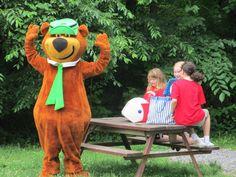 Yogi Bear Jellystone Park: Williamsport, MD- Yogi is caught trying to take a Pic-a-nic basket.