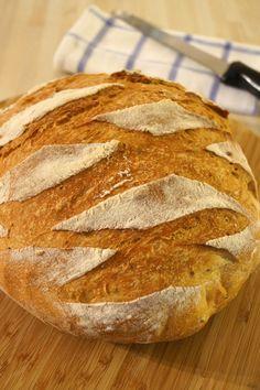 La dernière fois, qu'on a parlé pain ici, je croyais modestement tenir la recette parfaite lol! Mais entre temps, j'ai changé et rechangé de méthode, parce que le levain et moi, c'est terminé depuis qques mois, j'en ai juste eu marre de m'occuper de lui......