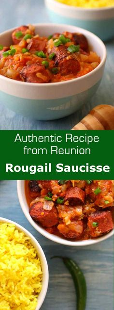 Sausage rougail (rougail saucisse) is a traditional tomato and chili pepper-based dish typically served with rice, very popular in Reunion. #creole #reunion #196flavors