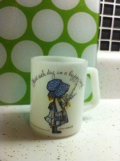 Holly Hobbie Start Each Day In A Happy Way Mug. $5.00, via Etsy.