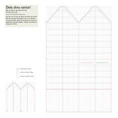 Här hittar du ett enkelt grundmönster på ett par stickade tumvantar. Du kan också ladda ner mönstret som en PDF eller som en JPG. Du skriver ut det tomma diagrammet och ritar själv i ditt mönster, ungefär som ett korsstygnsmönster. Sedan är det bara att börja sticka. Här hämtar du grundmönstret som PDF Här hämtar… Knitted Mittens Pattern, Knit Mittens, Knitted Gloves, Mittens Template, Knitting Charts, Knitting Ideas, Fabric Art, Sewing Crafts, Needlework