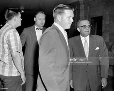 Vincent Gigante and Vito Genovese at Federal Court where both were released under bail on narcotics conspiracy charges. Get premium, high resolution news photos at Getty Images