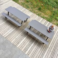 PICNIC on our own patio is being loved and frequently enjoyed during lunchtime or for recreational breaks in between.  Made from durable outdoor materials, PICNIC is super easy to maintain.  Maybe an option for your office yard too..?! :)  Send us a request to receive an offer. office@miramondo.com Outdoor Material, Street Furniture, Outdoor Furniture Sets, Outdoor Decor, Sun Lounger, Picnic, Yard, Patio, Super Easy