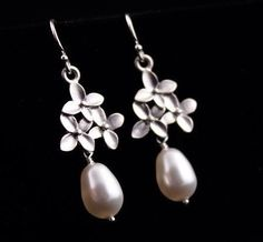 Bridal Jewelry Cherry Blossom Flower and Pearl by AnnsCrafts