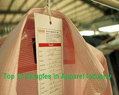 Top 12 Samples in Apparel Industry Reeha Ismail Sayyad Asst. Editor Textile Merchandising Assistant Professor CNCVCW SIBER, Kolhapur, India. E-mail:afsana.sayyad@gmail.com  Garments Samples…