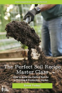 """Is your garden soil producing the desired results you're looking for? Building up a healthy growing medium that will feed your plants the nutrients they need is a process that starts with the right """"recipe"""" and quality ingredients. Feed the soil and let the soil feed your plants. Learn how to select the right ingredients to build the perfect soil in your garden. 