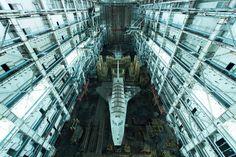 Soviet-era space shuttles left behind at the Baikonur Cosmodrome in Kazakhstan [16001068]