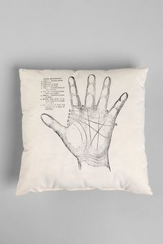 The Rise and Fall Palmistry Pillow - Urban Outfitters