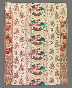 Quilt, Strip pattern Date: ca. 1840 Geography: New England, New Hampshire, United States Culture: American Medium: Cotton Dimensions: 79 x 62 in. x cm) Classification: Textiles