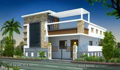 House Elevation : Marvelous Home Design 15 X 50 - Lovely Idea 22 House Plans Duplex House Elevation Pic. 15 x 50 house house house front row house house elevation Single Floor House Design, House Front Design, Small House Design, Modern House Design, Indian Home Design, Independent House, Front Elevation Designs, House Elevation, Plan Duplex